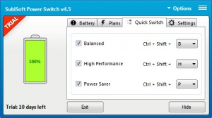 Enlarge Power Switch Screenshot