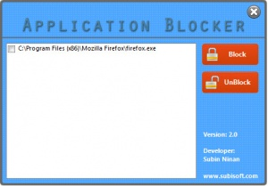 Enlarge Application Blocker Screenshot