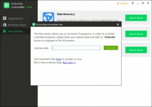 Enlarge DoYourData Uninstaller Free Screenshot