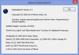 Enlarge DesktopEarth Screenshot