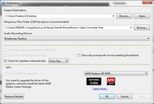Enlarge Xilisoft PowerPoint to Video Converter Screenshot
