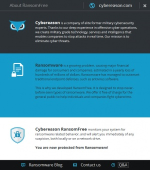 Enlarge Cybereason RansomFree Screenshot