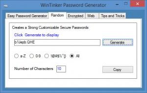 Enlarge WinTinker Password Generator Screenshot