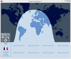 Enlarge World Clock Screenshot