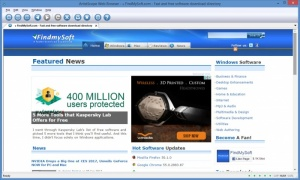 Enlarge ArtistScope Web Browser Screenshot
