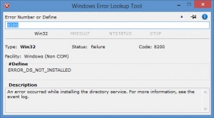 Enlarge Windows Error Lookup Tool Screenshot