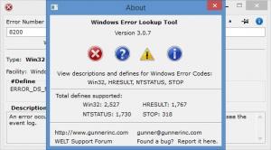 Enlarge Windows Error Lookup Tool Screenshot