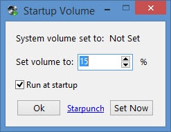 Enlarge Start Volume Screenshot