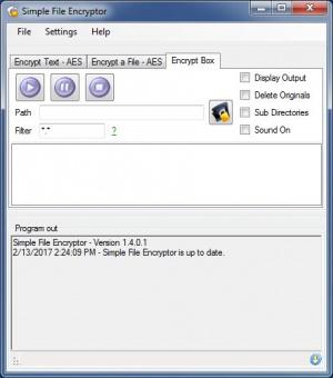 Enlarge Simple File Encryptor Screenshot