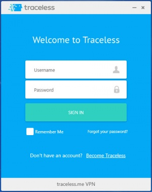 Enlarge Traceless.me VPN Screenshot
