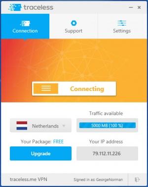 Enlarge Traceless.me VPN Screenshot