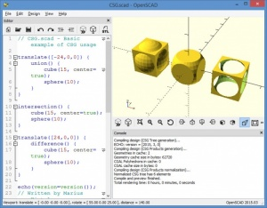 Enlarge OpenSCAD Screenshot