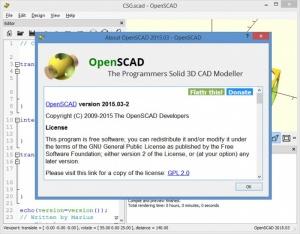 Enlarge OpenSCAD Screenshot