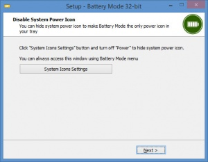 Enlarge Battery Mode Screenshot