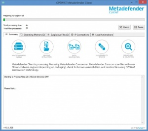Enlarge Metadefender Cloud Client Screenshot