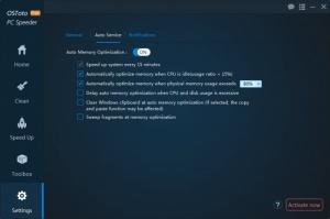 Enlarge OSToto PC Speeder Screenshot