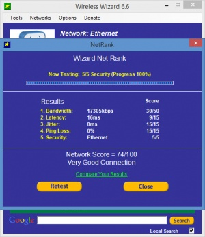 Enlarge Wireless Wizard Screenshot