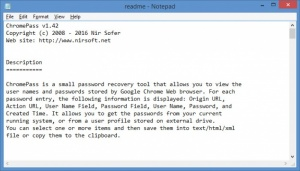 Enlarge ChromePass Screenshot