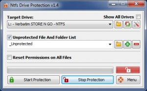 Enlarge Ntfs Drive Protection Screenshot