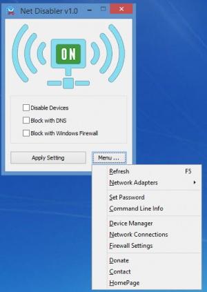 Enlarge Net Disabler Screenshot