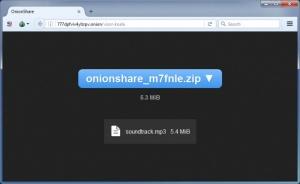 Enlarge OnionShare Screenshot