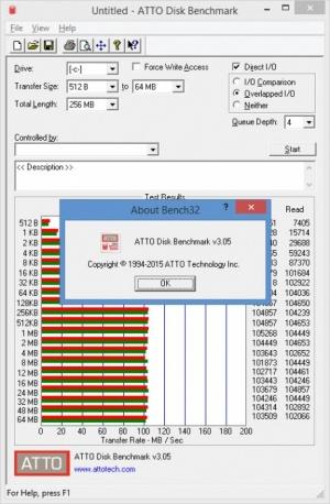 Enlarge ATTO Disk Benchmark Screenshot