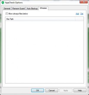 Enlarge AppCheck Screenshot