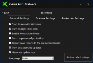 Enlarge Xvirus Anti-Malware Screenshot