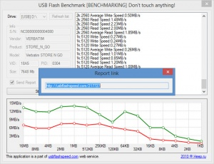 Enlarge USB Flash Benchmark Screenshot