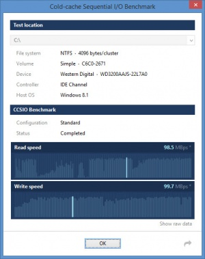 Enlarge CCSIO Benchmark Screenshot