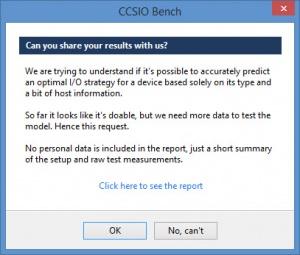 Enlarge CCSIO Benchmark Screenshot