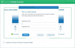 Enlarge Gihosoft Mobile Phone Transfer Screenshot