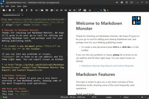 Enlarge Markdown Monster Screenshot