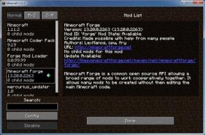 Enlarge Minecraft Forge Screenshot