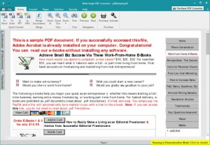 Enlarge Wide Angle PDF Converter Screenshot