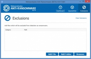 Enlarge Malwarebytes Anti-Ransomware Screenshot