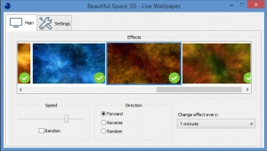 Enlarge Beautiful Space 3D Screenshot
