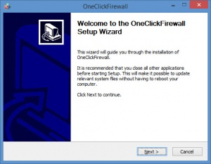 Enlarge OneClickFirewall Screenshot