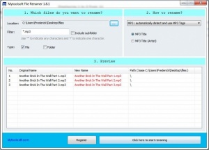 Enlarge Mytoolsoft File Renamer Screenshot