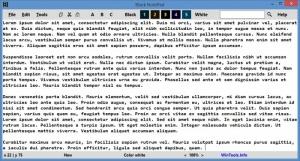 Enlarge Black NotePad Screenshot