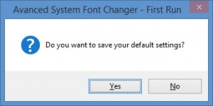 Enlarge Advanced System Font Changer Screenshot