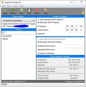 Enlarge Simple IP Config Screenshot