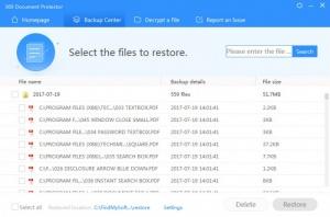Enlarge 360 Document Protector Screenshot