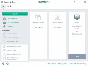 Enlarge Kaspersky Free Screenshot