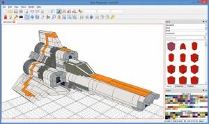 Enlarge LeoCAD Screenshot