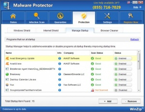 Enlarge WinZip Malware Protector Screenshot