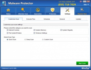 Enlarge WinZip Malware Protector Screenshot