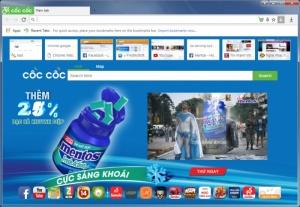 Enlarge Coc Coc Screenshot