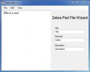 Enlarge Zebra Pad Screenshot