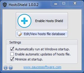 Enlarge HostsShield Screenshot